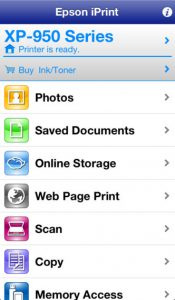 Epson iPrint App - so easy to use!