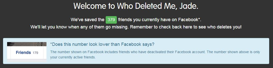 how to you know if you have been unfriended