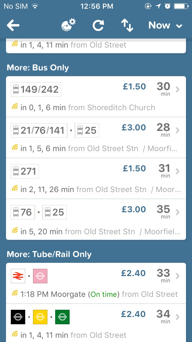 example of citymapper