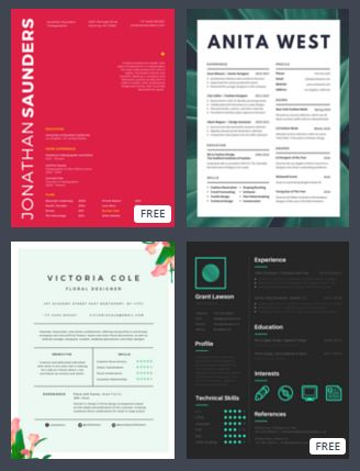 4 free top resume infographic creators - Tech Girl