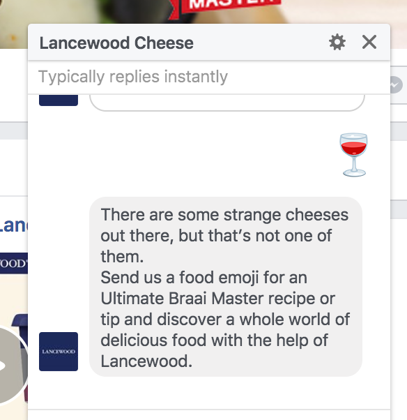 Emoji Meals Bot on Facebook