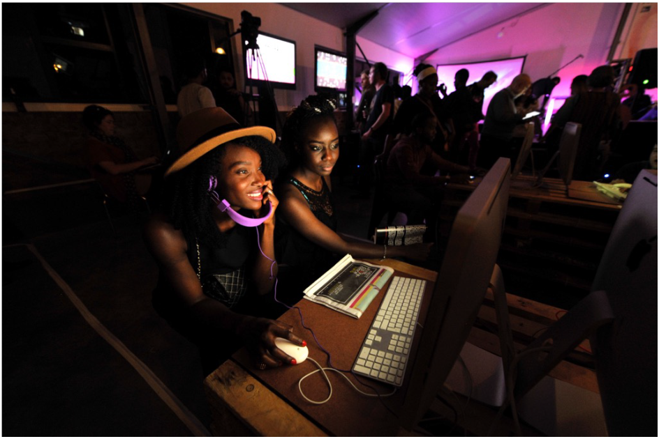 4 female game developers at the South African A MAZE festival