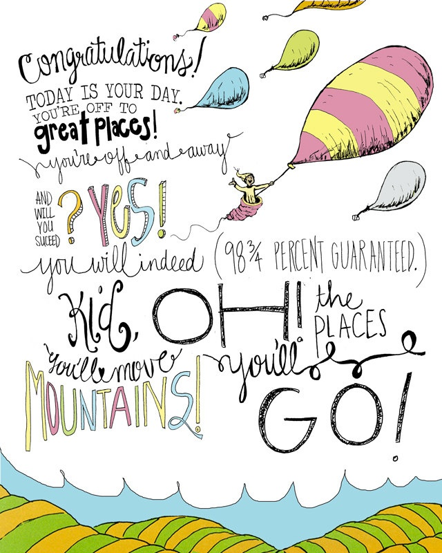 Doctor Seuss Oh The Places You Ll Go Baby Shower Thank
