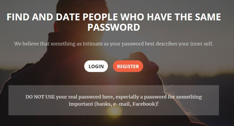 dating site for people with the same password