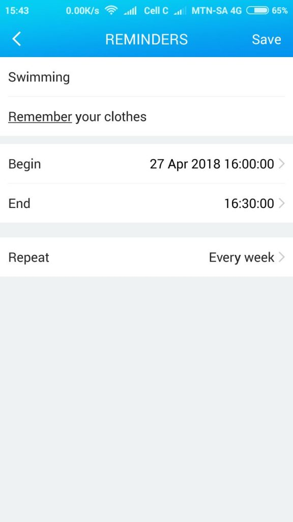 helps with time management - set reminders and schedule tasks