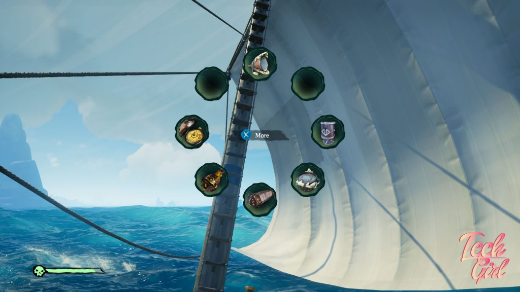 Sea of Thieves The Hungering Deep item wheel slots