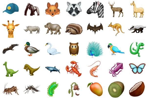 new animal emoji 2018