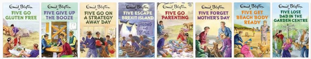 famous five spoof books