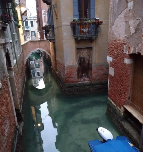 venice canals run clear